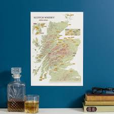 personalised scratch off whisky distilleries print canvas prints art