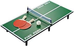 LIOOBO Table Tennis Ping Pong Board Bat Ball <b>Set Mini Portable</b> ...
