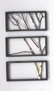 diy tree branch frame home decor and design wall art frames on wall art picture frames with 33 interior decorating ideas bringing natural materials and handmade