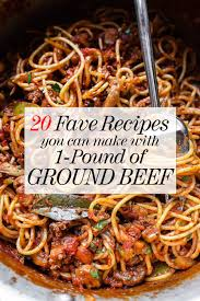 ground beef recipes. Brilliant Recipes 20 Favorite Ground Beef Recipes Foodiecrushcom Hamburger Ground Beef  Dinner Throughout C