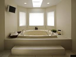 best bathroom remodel. Excellent Contemporary Bathroom Remodel Ideas With Skylight And Extended Bay Window Best
