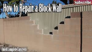 cinder block wall repair. Delighful Cinder How To Repair A Block Wall Easy Fixes DIY Odell Complete Concrete To Cinder A