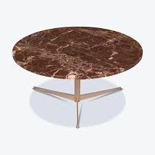 round coffee table by knoll with marble top and chrome frame 1960s netherlands