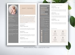 Modern Unique Resume 027 Resume Template By Fortunelle Resumes Ideas Microsoft