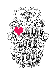 Small Picture Adult Coloring Page Valentines Day Curse swear sheet
