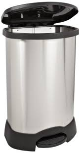 Captivating Pretentious 30 Gallon Trash Can Rubbermaid Commercial Step On Container  Oval Stainless Steel Gallons Black 614787BK