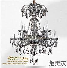 smoky gray incandescent luminaire chandelier crystal re for living room glass torch lamparas mds08 l8 4 d700mm h900mm chandeliers glass chandeliers