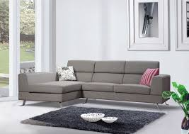 Living Room: Living Room Furniture Sectionals and Minimalist Gray Tone  Chaise Sofa Combined Square Black