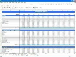 Household Expense Sheet Household Monthly Expenses Template Budget Family
