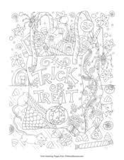 Our coloring pages require the free adobe acrobat reader. Halloween Coloring Pages Free Printable Pdf From Primarygames
