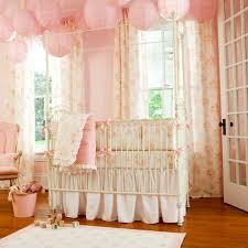 dazzling baby girl nursery sets peach pink vintage bedding white metal crib excerpt and green glass window room ideas nurseries designs furniture decor
