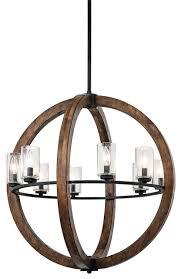 kichler grand bank 8 lt chandelier auburn stained