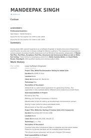 Lead Software Engineer Resume samples