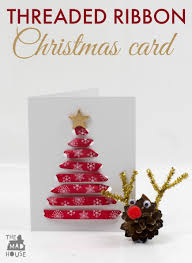 Christmas Card Picture Threaded Ribbon Christmas Cards Mum In The Madhouse