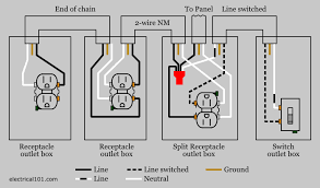 split recepticle wiring electrical 101 wire outlets in series or parallel at Wiring Diagram For An Electrical Outlet