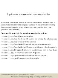 junior recruiter resume nurse recruiter resume