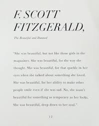 She Was Beautiful Quote F Scott Fitzgerald Book