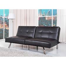 black leather convertible sofa  with black leather convertible