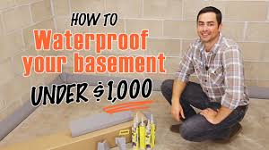 how to waterproof a basement diy