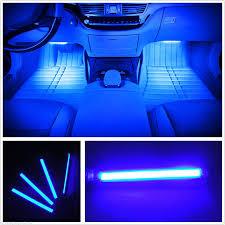 Blue Led Lights For Car Car Led Strip Light Ejs Super Car 4pcs 36 Led Car Interior