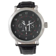 men s watches zazzle men s classy personalized monogram watch