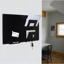 Black Magnetic Memo Board in 100 Magnetic Memo Board Letter Rack and Key Holder Black 7