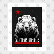 california bear flag posters and art