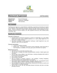 Restaurants Manager Job Description Fast Food Restaurant Manager