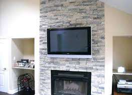 how to install a stone veneer fireplace surround party over brick installing