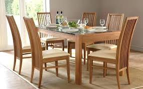 full size of dining table set for 6 stunning glass black and faux leather genuine chair