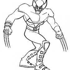 Small Picture Get This Simple Wolverine Coloring Pages to Print for Preschoolers