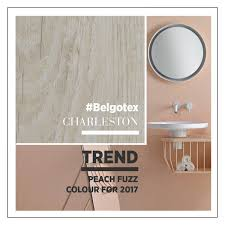 pale pastels are on the rise and pantone s peach fuzz goes perfectly with soft wood and metal fittings want the look consider belgotex s habitat range