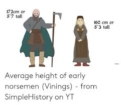 172cm Or 57 Tall 160 Cm Or 53 Tall Average Height Of Early