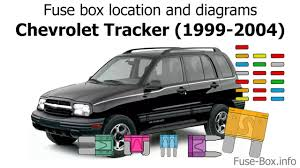 fuse box location and diagrams chevrolet tracker 1999 2004