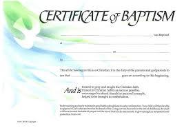 Baptism Certificate Free Printable Certificate Of Baptism Certificate Of
