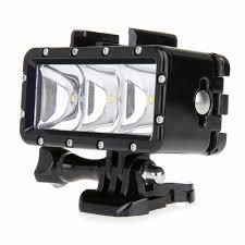 Underwater Camera Light Mount Us 25 37 6 Off Gopro Flashlight Lamp Underwater Diving Waterproof Led Flash Video Light Mount For Go Pro Hero 4 3 Sjcam Sj4000 Aee In Photographic