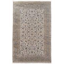oversize vintage persian rug 18 x 12 ft beige grey blue