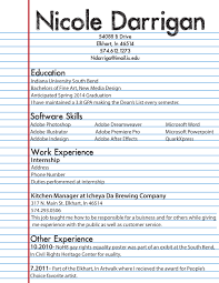 My First Resume Printable