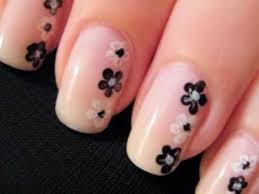 Simple and easy flower nail art design. Suitable for beginners ...