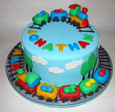 1 Year Old Boy Cake Design Traincake For A Two Years Old Boy 2 Year Old Birthday Cake