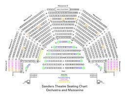 Speakeasy Stage Seating Chart Sanders Theatre Seating Charts Office For The Arts At Harvard