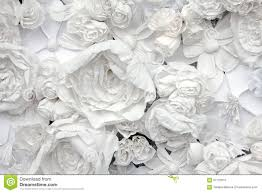 Flower Paper Mache Decorative Background From White Paper Flowers Stock Photo Image
