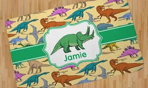 dinosaurs area rug personalized