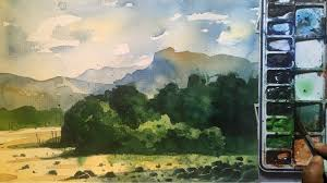 watercolor painting tutorial for beginners watercolor lesson and discription of materials