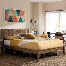 Loafey Medium Brown King Platform Bed