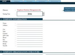 Employee Database Excel Template Employee Database Management My Excel Templates