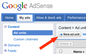 How To Add Adsense Ads to Your Wordpress Blog   Blogging Your Passion Blogging Your Passion adding a new ad unit in adsense