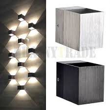 Details about 3W <b>LED</b> Square <b>Wall</b> Lamp Hall Porch Walkway ...