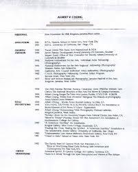 Albert Chong's Resume, pg 1