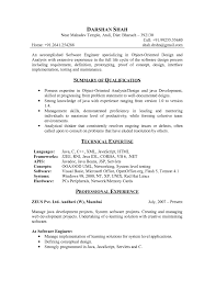 Excellent Resume Example For Freshers Software Engineers For